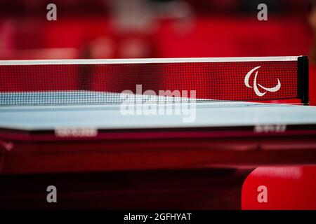 Tokyo, Giappone. 26 agosto 2021. General view Ping-pong : Men's Singles Class9 Preliminary match al Tokyo Metropolitan Gymnasium durante i Giochi Paralimpici di Tokyo 2020. Credit: SportsPressJP/AFLO/Alamy Live News