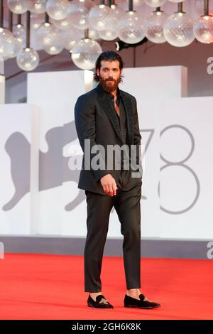 Il 78° Festival del Cinema di Venezia - Filming Italy Best Movie Award - Red carpet Arrivi - Venezia, Italia, 5 settembre 2021 - Actor Can Yaman Poses. REUTERS/Yara Nardi