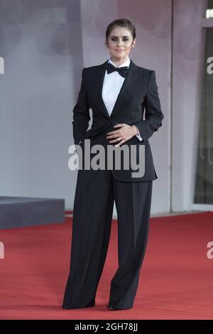 Greta Scarano ha partecipato al film Italia Award Red Carpet nell'ambito del 78° Festival Internazionale del Cinema di Venezia, il 05 settembre 2021. Foto di Aurore Marechal/ABACAPRESS.COM