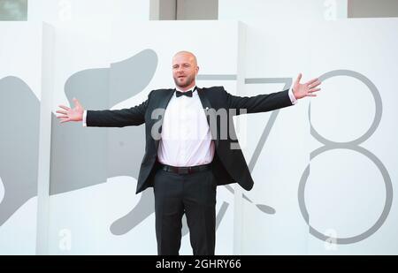 Il 78° Festival del Cinema di Venezia - Screening del film 'Reflection' - Venezia, Italia, 7 settembre 2021 - arriva l'attore Andriy Rymaruk. REUTERS/Yara Nardi