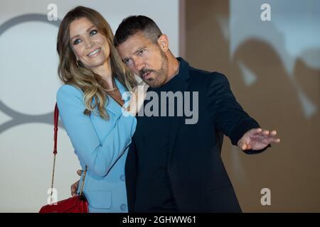 Antonio Banderas e Nicole Kempel partecipano al tappeto rosso del 'Filming Italy Award' durante il 78 settembre del Festival Internazionale del Cinema di Venezia