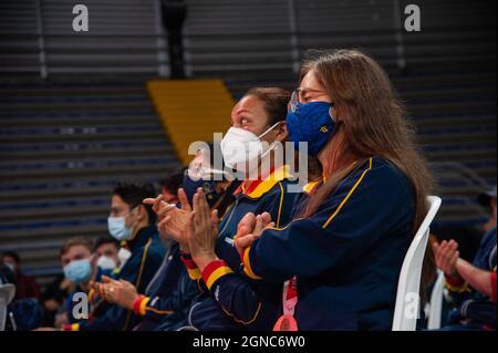 Laura Gonzalez medaglia di bronzo paralimpico durante un evento di benvenuto agli atleti Paralimpici colombiani che hanno partecipato al Tokyo 2020+1 P.