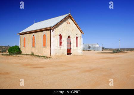 Storica Chiesa metodista e la moneta Carvery, Silverton vicino a Broken Hill, Nuovo Galles del Sud, Australia Foto Stock