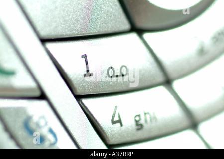 Tastierino di un Nokia 6630 telefono cellulare REGNO UNITO Foto Stock