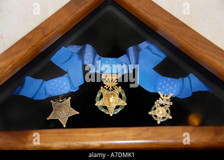 Congressional Medal of Honor visualizzati in Campidoglio Tallahassee Florida Foto Stock