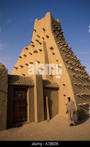 Sankoré moschea è stata costruita nel XV secolo e fu la base per l'Università di Sankoré, Timbuktu, Mali Foto Stock