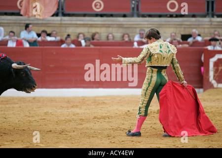 Julian -El Juli- Lopez, uno spagnolo matador durante una corrida, Spagna Foto Stock