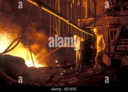 Forno in acciaio a vela Autorità di acciaio di India Ltd impianto Bokaro nello stato del Jharkhand India Foto Stock