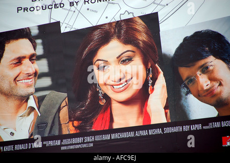 "Poster per il film di Bollywood ""la vita in un metro' dotate di Shilpa Shetty, India Foto Stock"