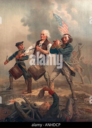 Yankee Doodle o lo spirito di 76 Chromolithograph pubblicato da J F Ryder dopo Archibald M Willard Foto Stock