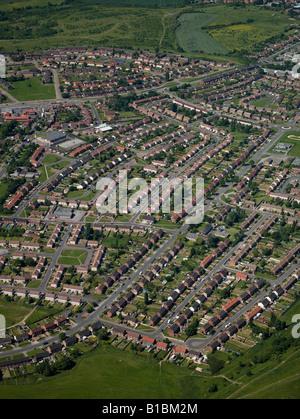 Autorità locali immobiliare di alloggiamento dall'aria, Barnsley,South Yorkshire, nell'Inghilterra del Nord Foto Stock