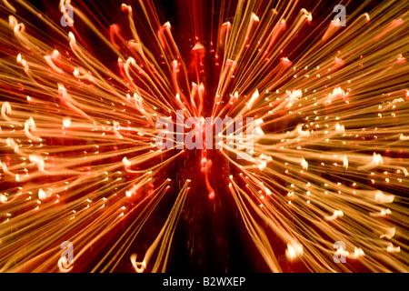Candela fiamme Abstract prese con una lenta velocità di otturatore in una cattedrale Foto Stock