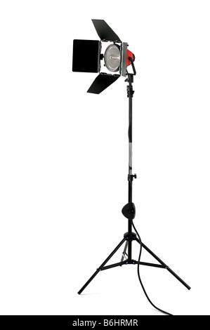 Redhead stage light CON ALETTE PARALUCE su un supporto isolato su uno sfondo bianco Foto Stock