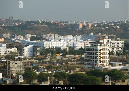 INDIA Andhra Pradesh, Hyderabad: Hitec City, panoramica del nuovo High Tech Town Foto Stock