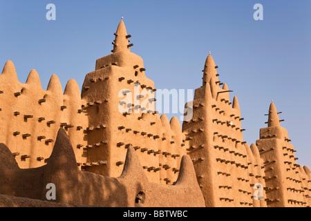 Grande Moschea di Djenne, Djenne, Mopti regione, Niger Inland Delta, Mali, Africa occidentale Foto Stock