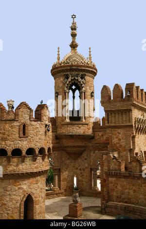 Castillo Monumento Castello di Colomares monumento in benalmadena andalusia. Foto Stock