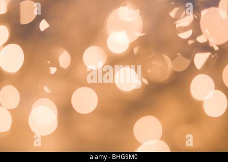 Cerchi di luce Foto Stock