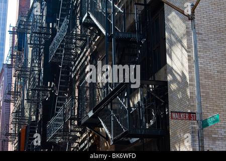 Cortlandt Alley di Tribeca, Manahattan, New York Foto Stock