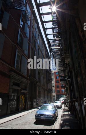 Cortlandt Alley, Tribeca New York City Foto Stock