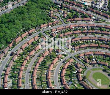 Suburban Gran Bretagna, autorità locale station wagon, Nottingham East Midlands, England, Regno Unito Foto Stock