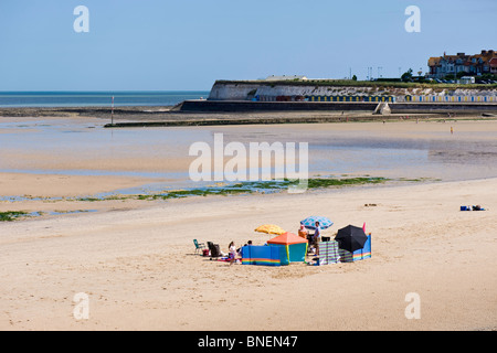 West Bay Beach, Margate, Kent, Regno Unito Foto Stock