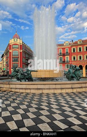 Place Massena nel centro di Nizza sulla Costa Azzurra (Cote d'Azur) Foto Stock