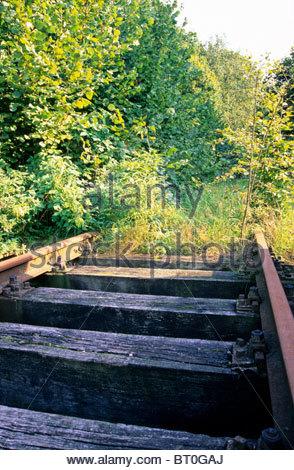 Chiuso il binario ferroviario, Germania Foto Stock