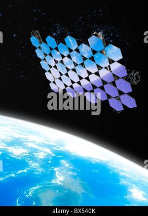 Array Mirror nello spazio, artwork Foto Stock