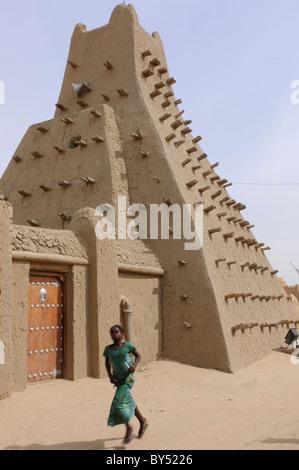 La torre conica della moschea Sankoré in Timbuktu, Mali. Foto Stock