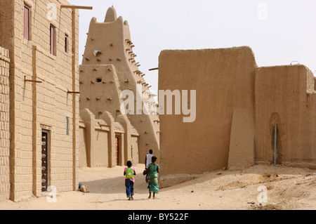 La Moschea Sankoré in Timbuktu, Mali. Foto Stock