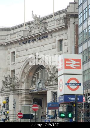 La stazione di Waterloo a Londra Foto Stock