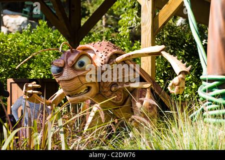 Scary Bug vita del personaggio dei fumetti a Disneyland in Anaheim California Foto Stock