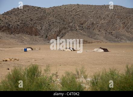 Tende nomade tra Tamar e Ashkhaneh (Golestan e Khorasan province, Iran) Foto Stock