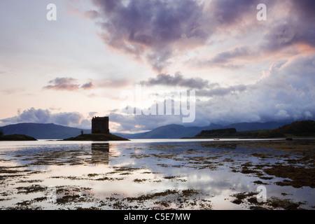 Castle Stalker, Argyll, Scotland, Regno Unito Foto Stock