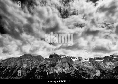 Dolomiti - vie dal Doss del Sabion Foto Stock