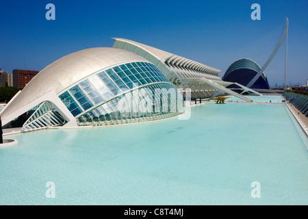 Città delle Arti e delle Scienze. Valencia, Spagna. Foto Stock