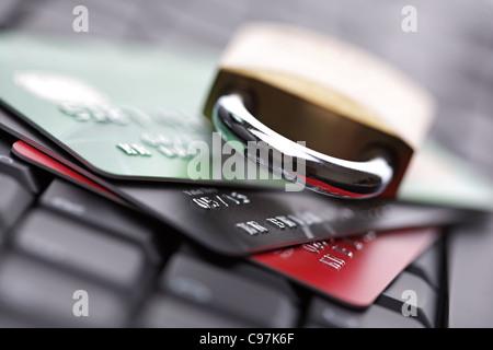 La sicurezza della carta di credito Foto Stock