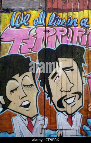 Street Graffiti, centro di Liverpool, Merseyside, Regno Unito Foto Stock