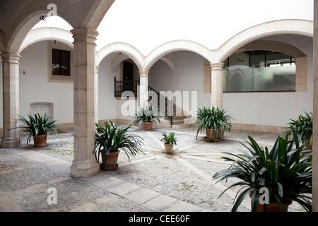 Cortile in Palma de Mallorca, Spagna Foto Stock