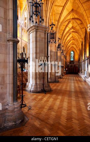 Una vista della navata nord della Cattedrale di Southwark. William Shakespeare è creduto di essere stato presente Foto Stock