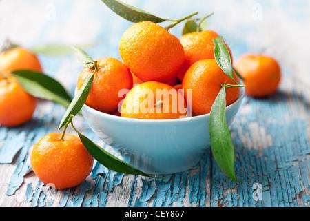 I mandarini freschi, arance Foto Stock
