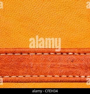 Una pelle marrone. texture ad alta risoluzione. Foto Stock