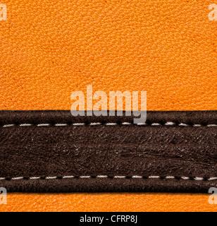 Un marrone e nero in pelle. texture ad alta risoluzione. Foto Stock