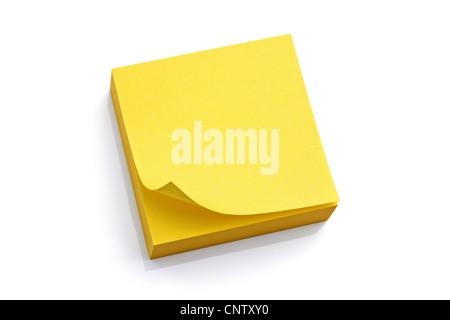 Blank bigliettino giallo Foto Stock