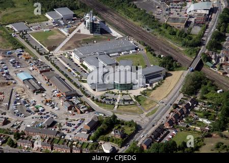 Vista aerea del College di Darlington Foto Stock