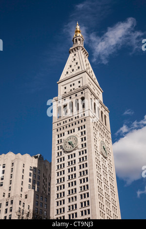 Met Life Tower, 1 Madison Avenue e Madison Square Park, NYC Foto Stock