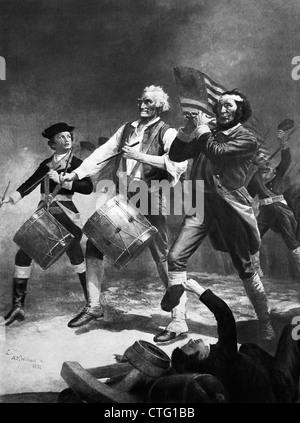1800s 1875 SPIRITO DI '76 pittura patriottica da ARCHIBALD WILLARD Foto Stock