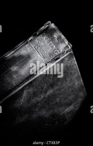 I Ching libro. Il cinese classico 'libro dei cambiamenti ' contro uno sfondo scuro Foto Stock