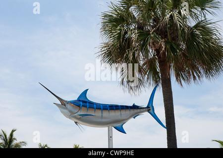 Scene di pesca in barca area della Bahia Mar Resort and Marina su Ft. Lauderdale, Beach, Florida. Foto Stock