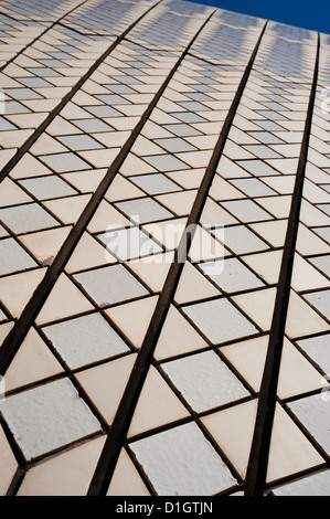 Sydney Opera House close up, Sito Patrimonio Mondiale dell'UNESCO, Sydney, Nuovo Galles del Sud, Australia Pacific Foto Stock
